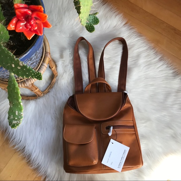 Le Donne small leather backpack NWT
